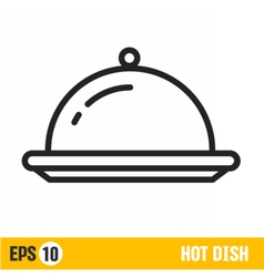 line icon hot dish vector image