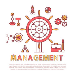 management poster text sample vector image