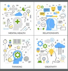 Mental activity flat concept vector