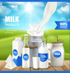 Milk products poster vector