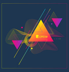 Modern abstract triangle geometric pattern design vector