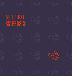 Multiple sclerosis pattern poster vector