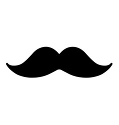 mustache icon isolated vector image