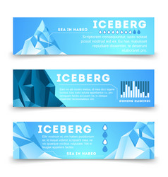 nature information banners template with iceberg vector image
