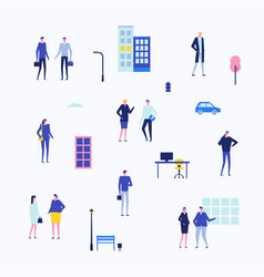 Office life - flat design style set of isolated vector