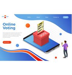 online internet voting isometric concept vector image