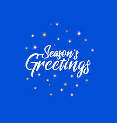 origami lettering of season s greetings vector image