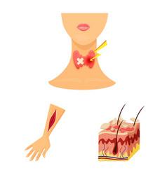 Pain and dermatology symbol vector