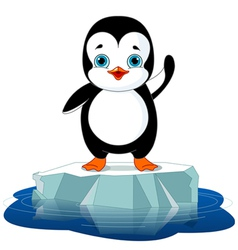 Penguin on Ice vector image