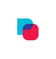 po logo design inspiration vector image