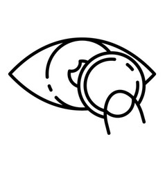 Put eye contact lens icon outline style vector
