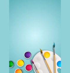 Realistic 3d background tins with brush and vector
