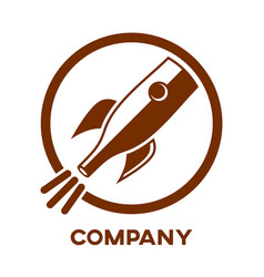 rocket bottle logo vector image
