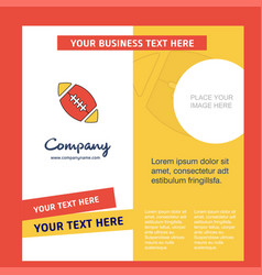 rugby ball company brochure template busienss vector image