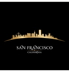 San Francisco California city skyline silhouette vector image