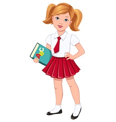 school girl red vector image
