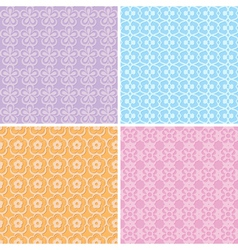 Seamless decorative patterns vector
