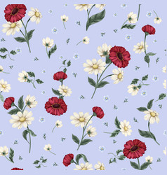 seamless floral pattern with ditsy flowers vector image