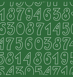 Seamless pattern with numbers on green background vector