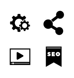 seo website promotion simple related icons vector image
