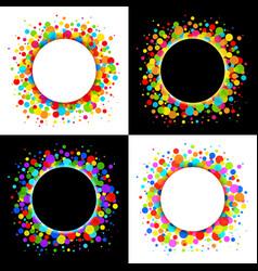 Set of bright celebration holiday frames vector