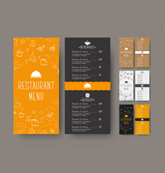 Set of coffee narrow menu for a cafe or vector