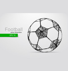 silhouette a soccer ball vector image