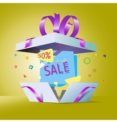 Special offer in a gift box vector