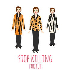 Stop killing animals for fur vector