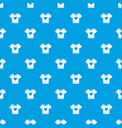 T-shirt heart pattern seamless blue vector