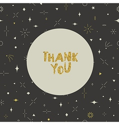 Thank you card Geometric seamless pattern Gold vector image vector image