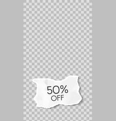 torn paper story paper scraps sale social media vector image