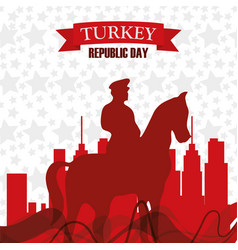 Turkey republic day leader historical man vector