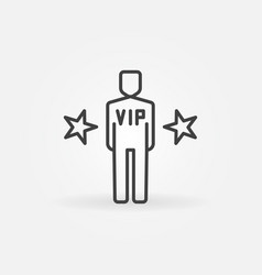 very important person outline icon vector image