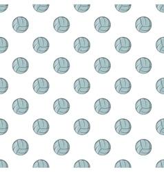 Volleyball pattern cartoon style vector image