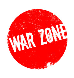 war zone rubber stamp vector image
