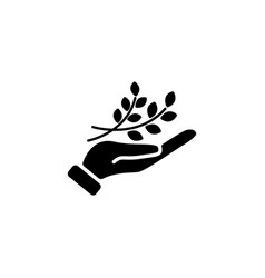 web icon a branch in the hand vector image