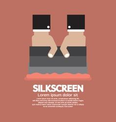 Worker Do Silkscreening vector
