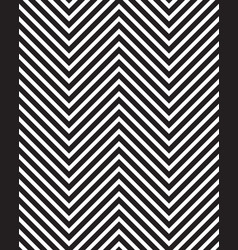 zigzag black and white pattern vector image