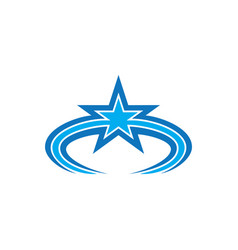 Abstract star business logo vector