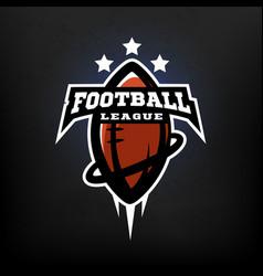 american football league logo vector image vector image