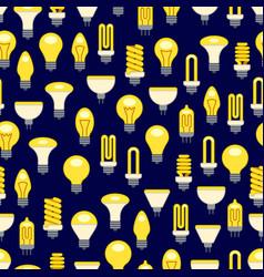 bright light bulbs seamless pattern vector image