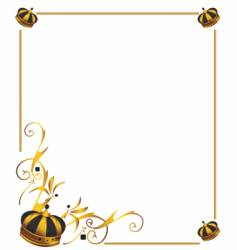 gold crown frame vector image vector image