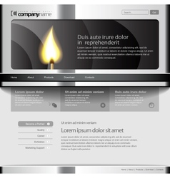 Gray Website Template 960 Grid vector image vector image
