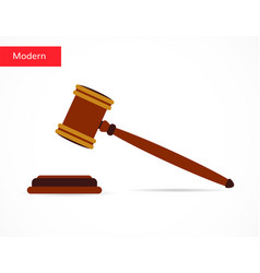 justice gavel auction icon flat style design vector image