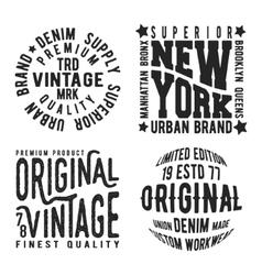 Set of vintage stamp vector image