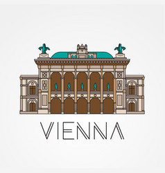 vienna state opera - the symbol of austria vector image