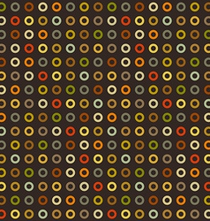 Vintage seamless background of round elements dots vector image