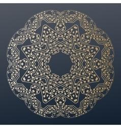 Abstract golden microchip pattern mandala vector image