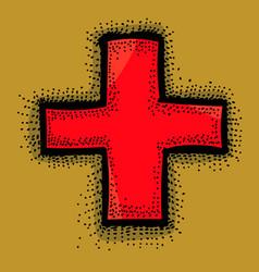 cartoon image of medical cross vector image vector image